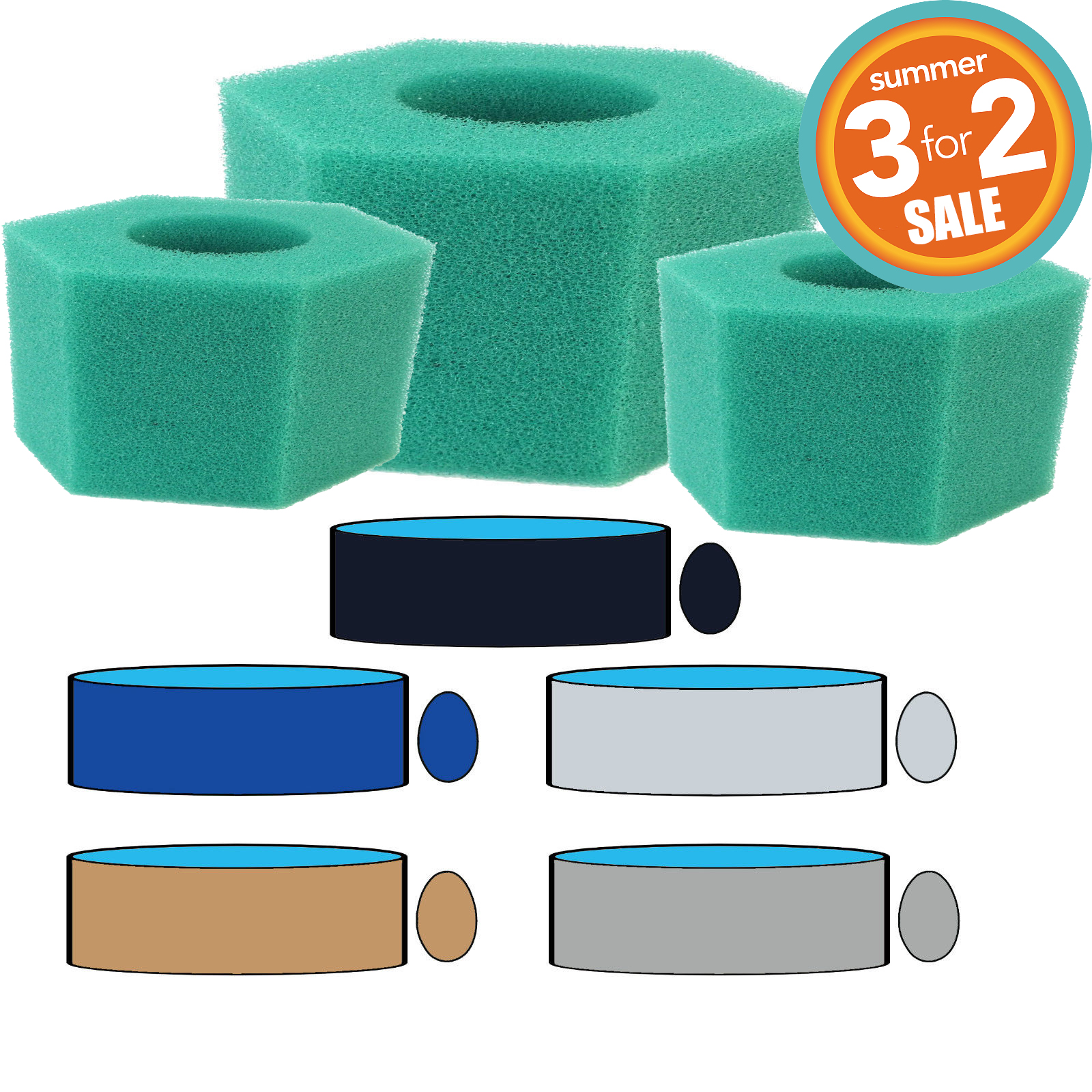 Lay Z Spa Filters 3 for 2